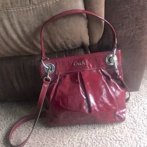 Coach Ashley hippie patent leather purse